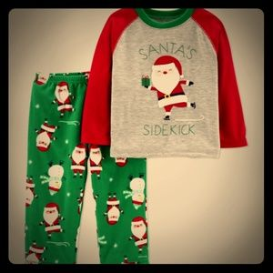 Carter's 2 Piece Pajama Set 2T Santa's Sidekick